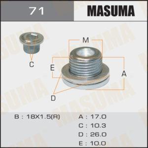 Болт маслосливной A/T MASUMA 71