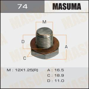 Болт маслосливной A/T MASUMA 74