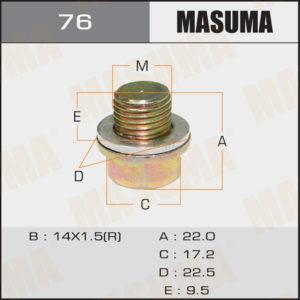 Болт маслосливной A/T MASUMA 76