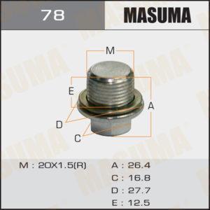 Болт маслосливной A/T MASUMA 78