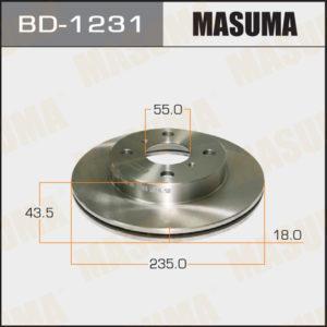 Диск тормозной MASUMA front VITZ, YARIS/ NCP1#, SCP1#, NLP10 - (BD1231)