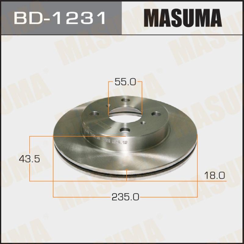 Диск тормозной MASUMA BD1231