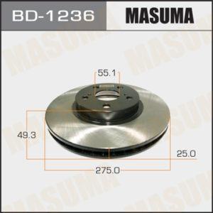 Диск тормозной MASUMA BD1236