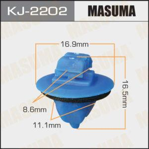Клипса автомобильная (автокрепеж) MASUMA   2202-KJ - (KJ2202)