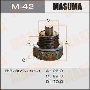 Болт маслосливной С МАГНИТОМ MASUMA M42