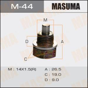 Болт маслосливной С МАГНИТОМ MASUMA M44