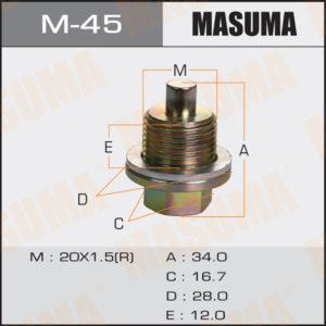 Болт маслосливной С МАГНИТОМ MASUMA M45