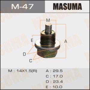 Болт маслосливной С МАГНИТОМ MASUMA M47