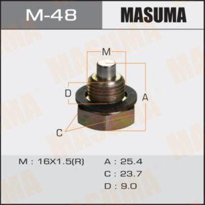 Болт маслосливной С МАГНИТОМ MASUMA M48