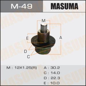 Болт маслосливной С МАГНИТОМ MASUMA M49