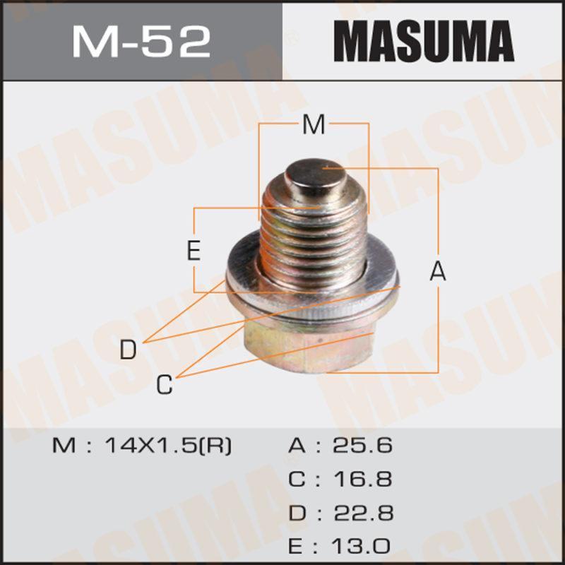 Болт маслосливной С МАГНИТОМ MASUMA M52