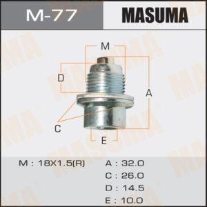 Болт маслосливной A/T С МАГНИТОМ MASUMA M77
