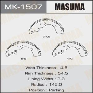 Колодки барабанные MASUMA MK1507