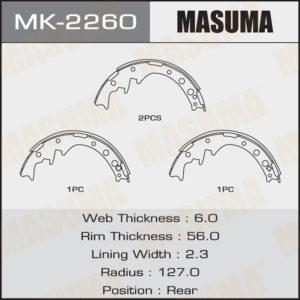 Колодки барабанные MASUMA MK2260