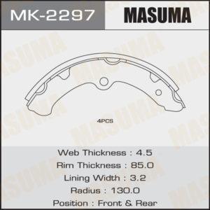 Колодки барабанные MASUMA MK2297