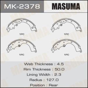Колодки барабанные MASUMA MK2378