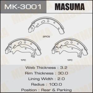 Колодки барабанные MASUMA MK3001