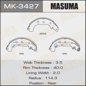 Колодки барабанные MASUMA MK3427