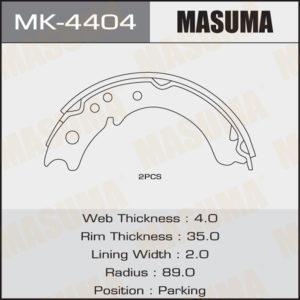 Колодки барабанные MASUMA MK4404