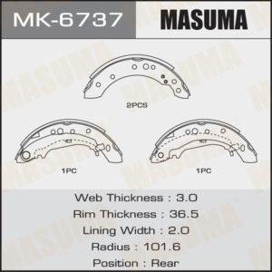 Колодки барабанные MASUMA MK6737