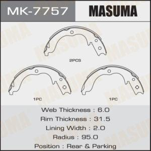 Колодки барабанные MASUMA MK7757