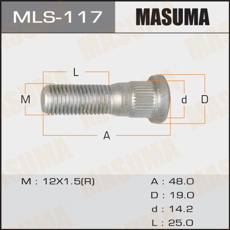 Шпилька MASUMA  Toyota, Daihatsu, Lexus, Mitsubishi, Honda. 12Х1,5. L- 49mm - (MLS117)