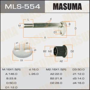 Болт эксцентрик MASUMA MLS554