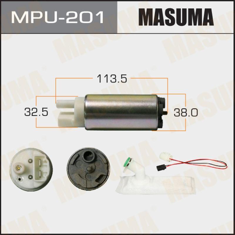 Бензонасос MASUMA, с фильтром сеткой MPU-001. Nissan V=1500-1800 - (MPU201)
