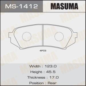 Колодки дисковые MASUMA MS1412