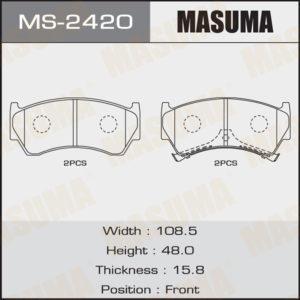 Колодки дисковые MASUMA (1/12) - (MS2420)