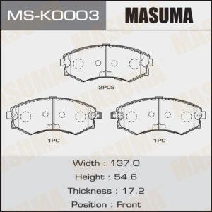 Колодки дисковые MASUMA MSK0003
