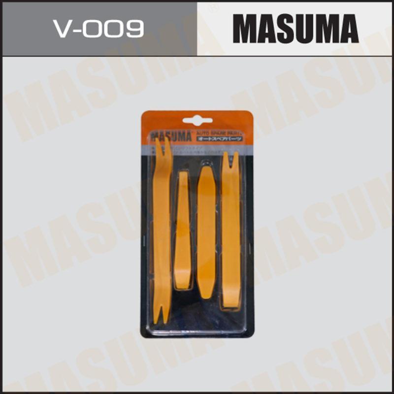 Инструмент для демонтажа облицовки в салоне а/м пластик. Лопатки, к-т 4пр. MASUMA V009